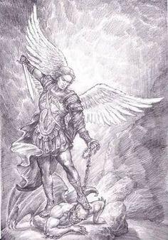 Resultado de imagen para warrior archangel michael tattoo