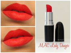 MAC Lady Danger Orange Red Lipstick