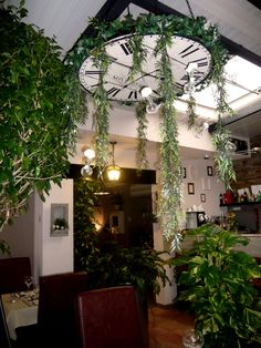 plafonnier végétal - Deux sur la Balançoire - Restaurant à Toulouse. France