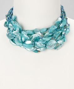 Take a look at this Turquoise Ocean Goddess Necklace by Felicia LTD on #zulily today!