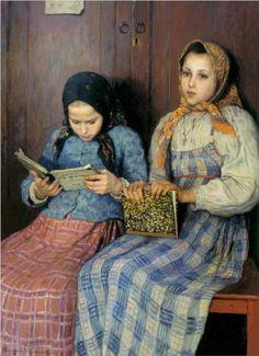 Nikolay Bogdanov-Belsky (Russian: 1868 -1945) - Schoolgirls - 1901