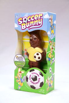 """Who is excited for Easter? Who's excited for the World Cup?! Our newest milk chocolate hollow bunny Soccer Bunny is! He is so excited that he wants you to WIN a new 60"""" Flat Screen TV to watch the World Cup in style!  Enter to WIN the Soccer Bunny #Sweepstakes through 4/20/14!"""