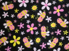 Pink & Yellow Bumble Bee Infant Receiving Blanket by StitchesByDee, $12.00