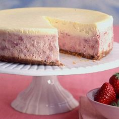 Strawberries-and-Cream Cheesecake #recipe #strawberries