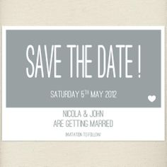 fun paloma grey Save the date card, £1.20, #savethedate