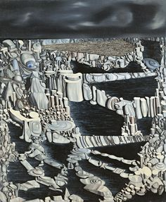 herzogtum-sachsen-weissenfels: Yves Tanguy (French, Imaginary Numbers, Oil on canvas, 99 x 80 cm. Peggy Guggenheim, Henri Matisse, Yves Tanguy, Infinite Art, Arte Online, Max Ernst, Rene Magritte, Digital Museum, Surrealism Painting