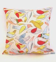 Bird Pillow Cover by Chloe Derderian-Gilbert