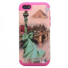 2-in-1 ontwerp Vrij Vrouw Patroon beschermhoes voor de iPhone 5C – EUR € 6.71