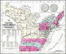 Thirteen Colonies -  Responding to popular grievances against London, they set up a Continental Congress in 1774, which declared independence from Great Britain in 1776, set up state governments, and formed a new nation, the United States. The thirteen were: Delaware, Pennsylvania, New Jersey, Georgia, Connecticut, Massachusetts Bay, Maryland, South Carolina, New Hampshire, Virginia, Province of New York, Province of North Carolina, and Colony of Rhode Island and Providence Plantations...