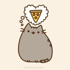 Pusheen pizza Informations About Is Pizza Safe For Cats? – Purrfect Love Pin Y… Gato Pusheen, Pusheen Love, Pusheen Stuff, Chat Kawaii, Kawaii Anime, Pusheen Stickers, Pusheen Stormy, Nyan Cat, Cat Memes