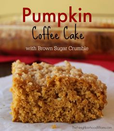 This is one of my favorite seasonal coffee cakes. Pumpkin Spice Coffee Cake is so yummy and comforting on a chilly Fall morning.