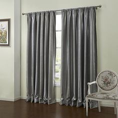 (One Pair) Modern Light Leaves Embossed Blackout Curtain – USD $ 59.99