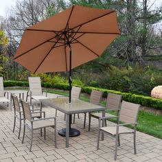 Found it at Wayfair - Padded Sling 9 Piece Dining Set