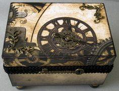 Steampunk Clocks Decorative Box by funkyart08 on Etsy, $48.00