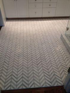 More bathroom floor tile ideas. Chevron? yes please...