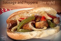 My favorite carnival food - sausage and peppers (The Mother Huddle)