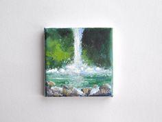 Bekijk dit items in mijn Etsy shop https://www.etsy.com/nl/listing/467813907/original-acrylic-painting-waterfall