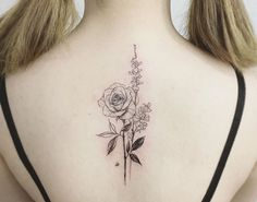 delicate flower tattoo