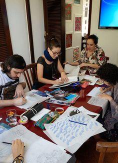 WORKSHOP DESIGN DE SUPERFÍCIE com Renata Rubim | Stampa Studio| outubro 2014 | Início do segundo dia do workshop: processos criativos