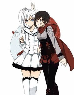 RWBY-Weiss and Ruby.