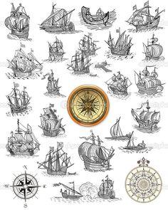 old nautical map symbols - Google Search