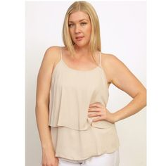 ✨Coming Soon✨ Plus Size Khaki Layered Cami Top, 1X ✨Coming Soon✨ New plus size khaki layered cami top in size 1X. I also have 2X and 3X listed separately. 100% polyester. PLEASE DO NOT PURCHASE THIS LISTING YET, LIKE OR COMMENT IF INTERESTED AND I WILL LET YOU KNOW AS SOON AS I RECEIVE THESE Tops Camisoles