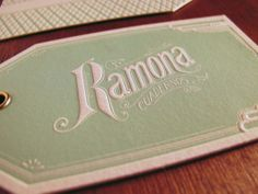 vintage inspired letterpress hang tags by Rocio Cogno