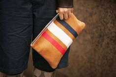 The three stripe clutch spotted at Fashion week!