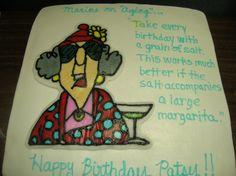 Maxine birthday cake - frozen buttercream transfer