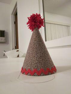 DIY Fabric Covered Birthday Hat
