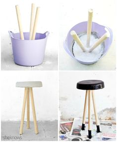 DIY Concrete Stool diy home crafts Made at home, inspired by iconic design stools Diy Design, Patio Design, Diy Home Crafts, Diy Home Decor, Concrete Stool, Cement Patio, Flagstone Patio, Diy Furniture, Furniture Design