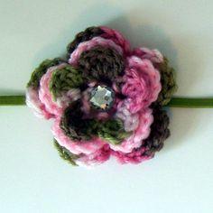 Pink Cammo Flower Headband $6.50