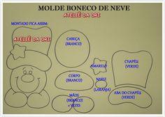 MOLDES DE E.V.A: NATAL CHEGOU AQUI NO BLOG COM OS MOLDES DO ATELIE DA DRI. APROVEITEM!