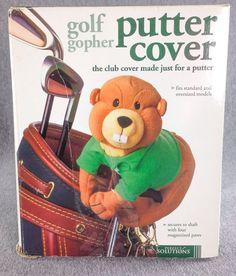 New Golf Putter Cover Head Protector Groundhog Gofer Caddy Big Teeth, Golf Head Covers, Golf Putters, New Golf, Grad Parties, Sports Equipment, Golf Clubs, Baseball Cards, Ebay