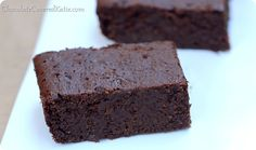 Double Chocolate Guinness Brownies- looks like her blog is vegan but these brownies look so yummy!