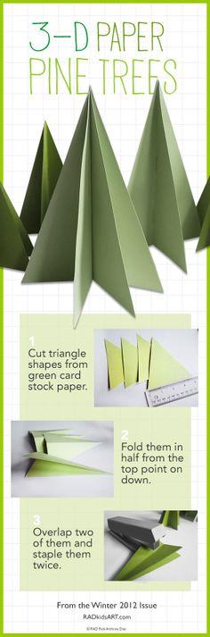 Paper Pine Tree tutorial RADkidsart