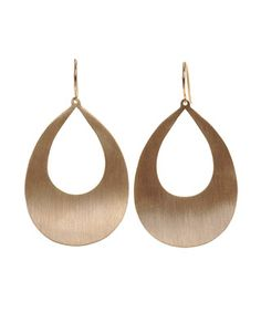 Irene Neuwirth • Rose gold pear cut-out earrings