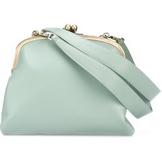 Tammy&Benjamin Elizabeth Shoulder Bag ($530) ❤ liked on Polyvore featuring bags, handbags, shoulder bags, real leather handbags, green handbags, leather handbags, leather shoulder bag and leather purses