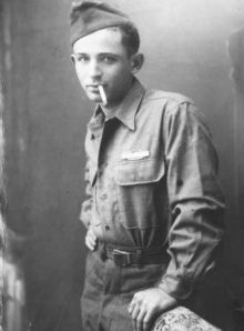 Norman Mailer, 21, in the U.S. Army during WWII. Via http://wuster338fall2011.wordpress.com