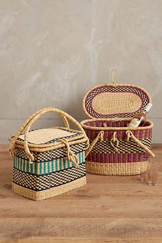 Handwoven Picnic Basket - anthropologie.com #anthroregistry