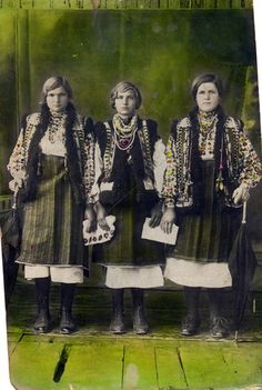 ukrainian hucul girls, most probably - as quests on wedding