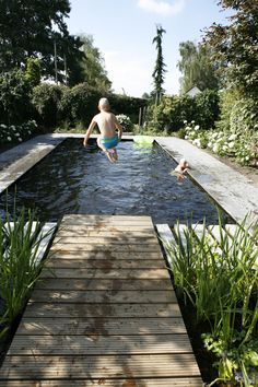 zwemvijver-basis-naturbad-wellness-schwimmbad-wonen-nl-basis-naturb/ - The world's most private search engine Ideas De Piscina, Natural Swimming Ponds, Swimming Pool Designs, Swimming Pools Backyard, Natural Garden, Cool Pools, Pool Landscaping, Water Garden, Garden Grass