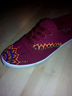 Work in progress... Fashion Mandala Sneakers. *You Can Do a Lot with Simple Things*