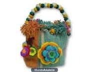 Carteras hechas a mano en alpaca peruana