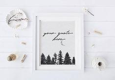 custom quote printable christmas wall art printable pine