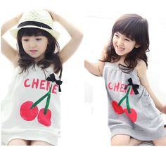 $8.38 (Buy here: https://alitems.com/g/1e8d114494ebda23ff8b16525dc3e8/?i=5&ulp=https%3A%2F%2Fwww.aliexpress.com%2Fitem%2Flittle-girls-dresses-kids-clothes-2017-summer-style-cherry-halter-girl-dress-high-quality-cute-fruit%2F32750185514.html ) little girls dresses kids clothes 2017 summer style  cherry halter girl dress high quality cute fruit letter bow baby girl dress for just $8.38