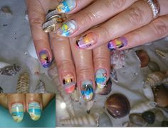 #nailart #nails #beach #handpainted