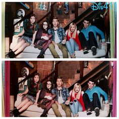 "Can you tell the differences in these 2 photos of the ""I Didn't Do It"" cast? Photo: Olivia Holt, Austin North, Piper Curda, Peyton Clark and Sarah Gilman"