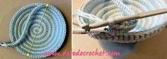 Cómo tejer platos yin yang a crochet para alhajas, y piezas pequeñas. Clase magistral crochet Crochet Doily Diagram, Crochet Diy, Crochet Gifts, Crochet Doilies, Embroidery Patterns, Sewing Patterns, Crochet Patterns, Crochet Organizer, Crochet Decoration