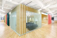 Shopify offices by MSDS Studio feature meeting rooms designed to look like shipping containers